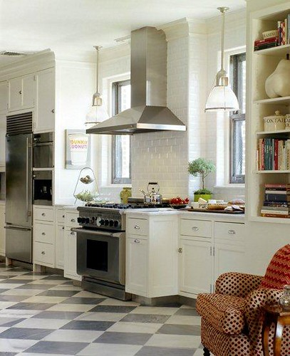 carter and company checkerboard floor kitchen