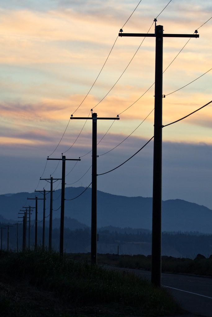 Ediz Hook electric poles