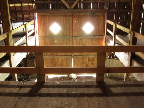 Inside the round barn