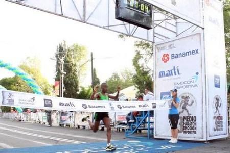 Julius Keter primer lugar Medio Maraton ED 2011