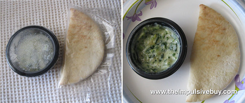 Lean Cuisine Spinach Artichoke Dip with Pita Bread