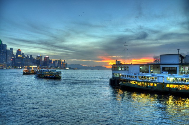 Victoria Harbour at Dusk