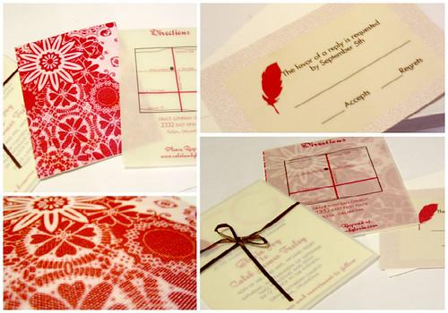 Fabric Backed Wedding Invitations
