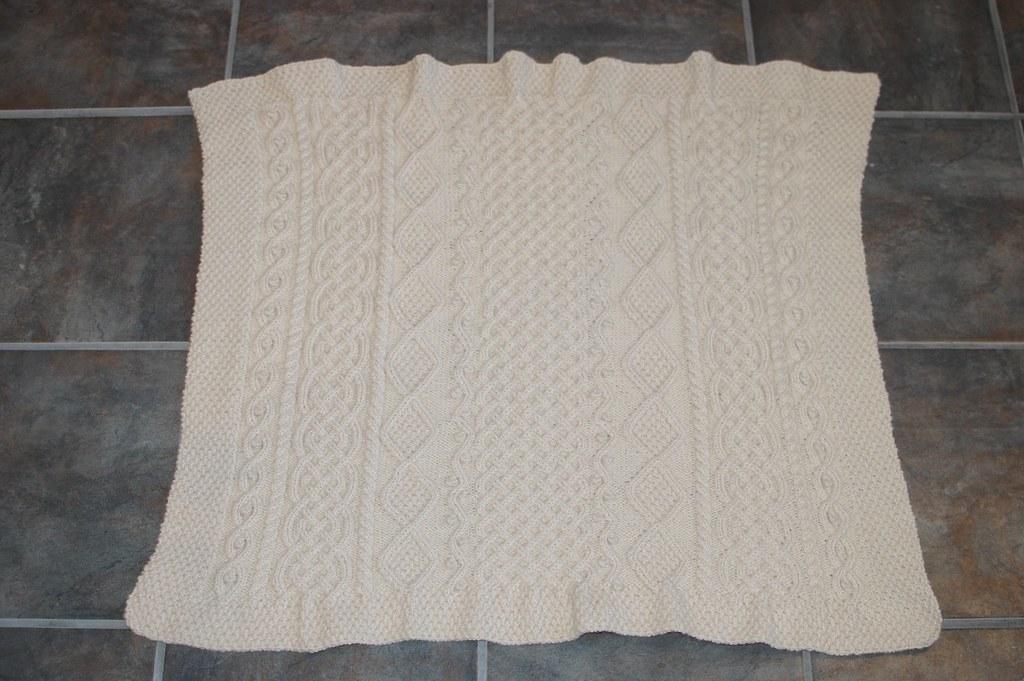 Aran Sampler Baby Blanket