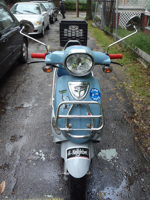 """Franz Biberkopf, the St. Tropez Buddy scooter, says """"Hi Neighbor"""""""