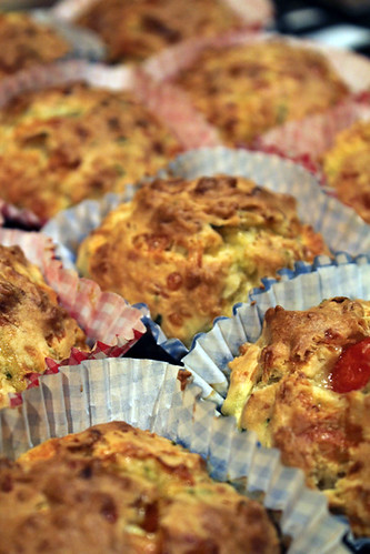 Courgette, Cheese and Tomato Muffins (5/5)