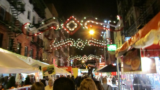 feast of san gennaro. lights.