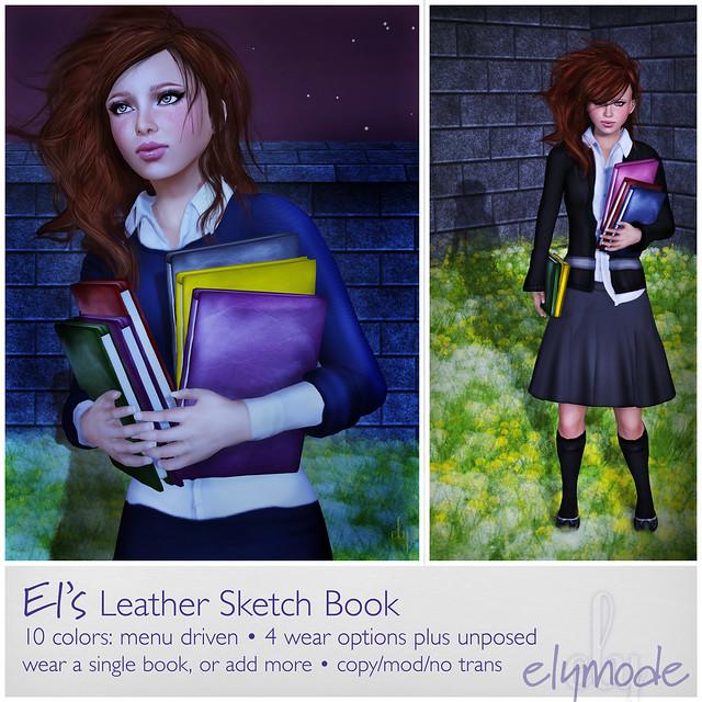 El's Leather Sketchbook / Notebook