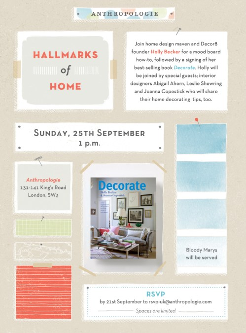 LONDON: Meet us at Anthropologie on Sunday, September 25th @1pm