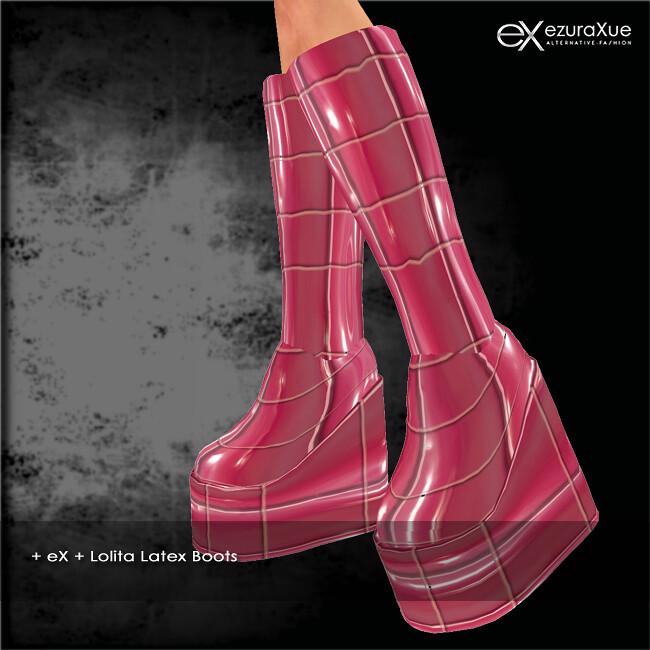 + eX + Lolita Latex Boots VIP