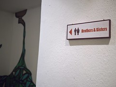 Brothers & Sisters Toilet Sign, 40 Hands Coffee, Yong Siak Street, Tiong Bahru Estate