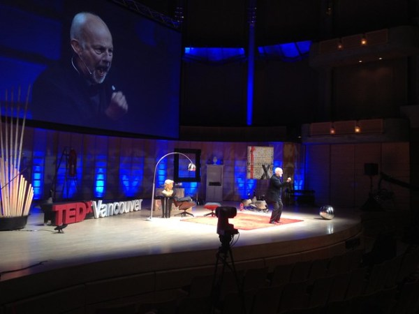 Christopher Gaze speaking at TEDxVancouver