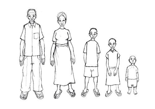 family characer design by kiboko HachiYon
