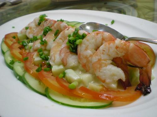 Fisherman salad prawns