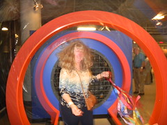 Laura in the Wind Tunnel