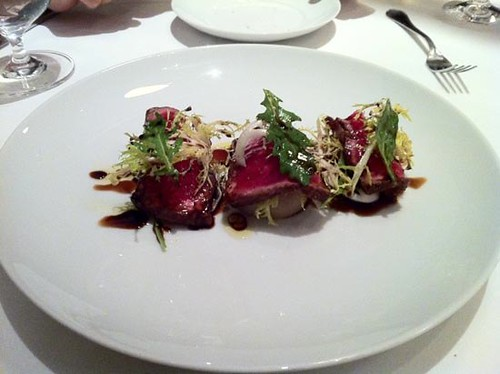 Seared Striploin with Foie Gras