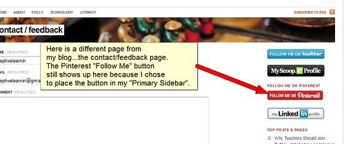 Pinterest adaptivelearnin screen shot of about