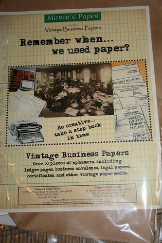 Vintage Business paper label