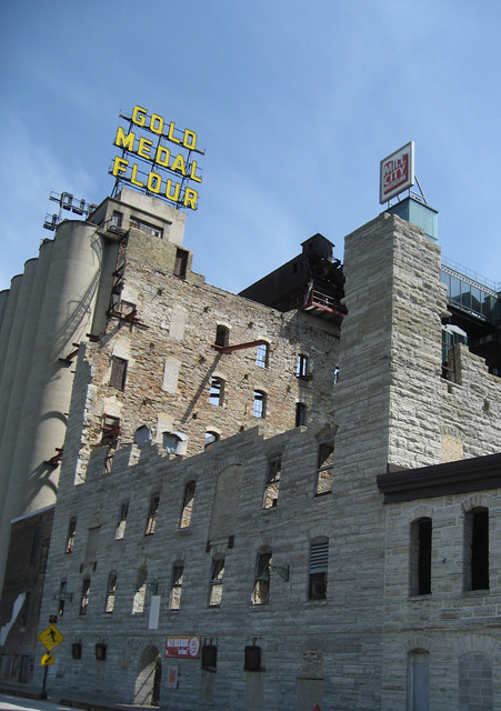 Old Gold Medal Flour mill
