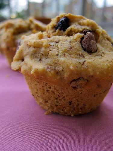 Another close-up of a muffin.