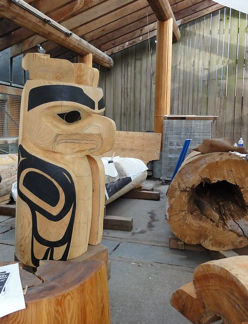Totem carver's workshop