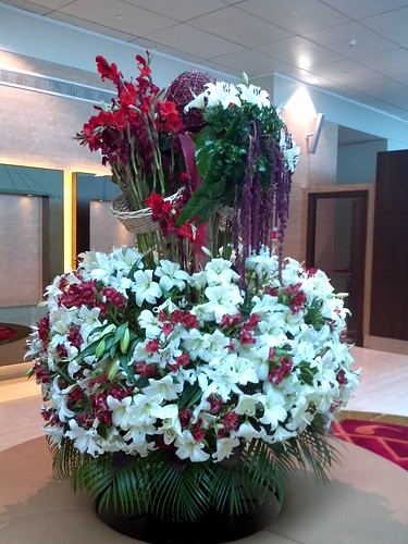 Floral Arrangement at First Class Lounge