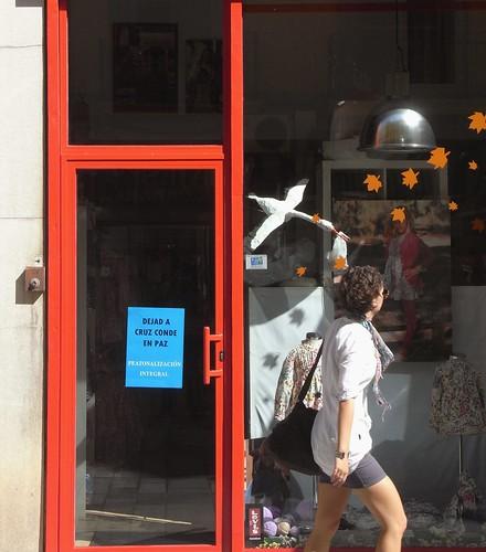 Reivindicación peatonal de los comerciantes de la Calle Cruz Conde.
