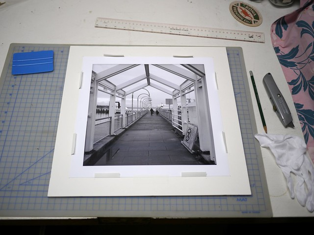 Mounting a print using Art Savers strips