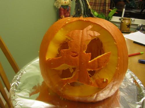 Orange Bird pumpkin