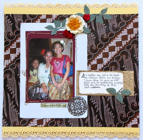 Batik Inspired Scrapbook