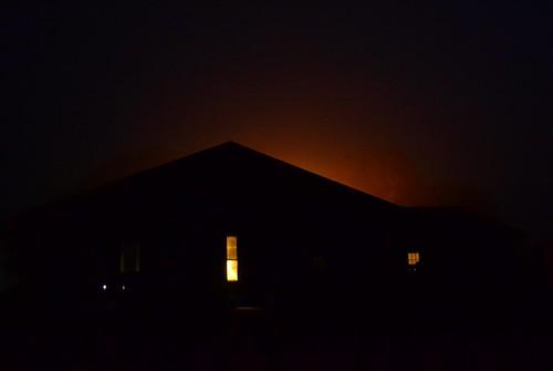 like a fire glow