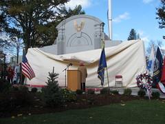 WW II Monument Unveiling