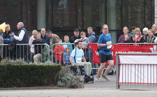 Cardiff Half Marathon 2011-The lead wheelchair