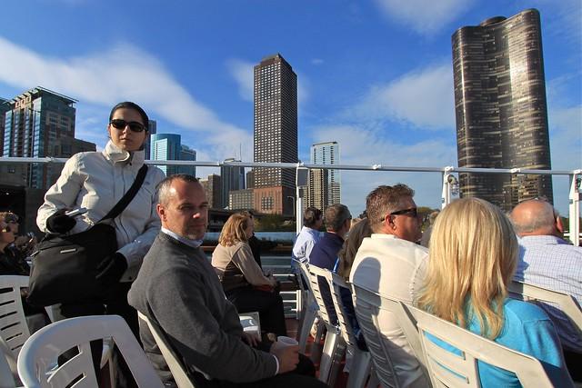 Croisière sur la rivière de Chicago, État-Unis