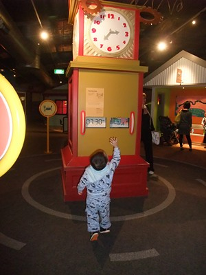 ScienceWorks Nitty Gritty Super City Clock tower