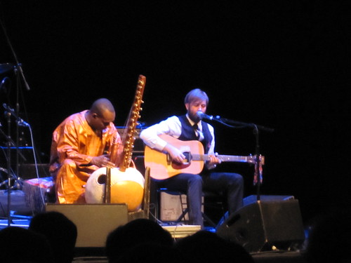 Toumani Diabate and Stephen in Brighton