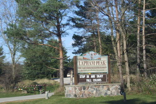 Lapham Peak sign