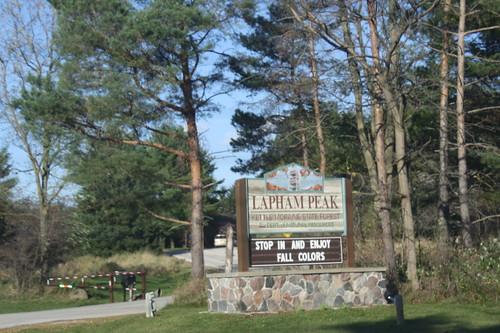 Lapham Peak sign