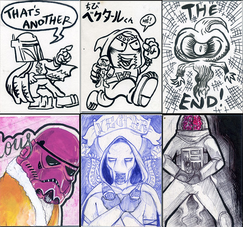 Sketch Cards 6 by SUCKADELIC