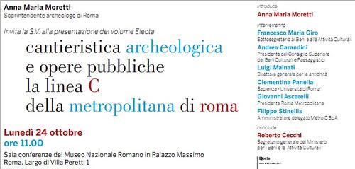 """Roma - Stazione di Lodi Nord /Stazione di San Giovanni in: """"Cantieristica archeologica e opere pubbliche. La linea C della Metropolitana di Roma."""" Roma / Electa (2011). [PDF pp. 1-3]. by Martin G. Conde"""