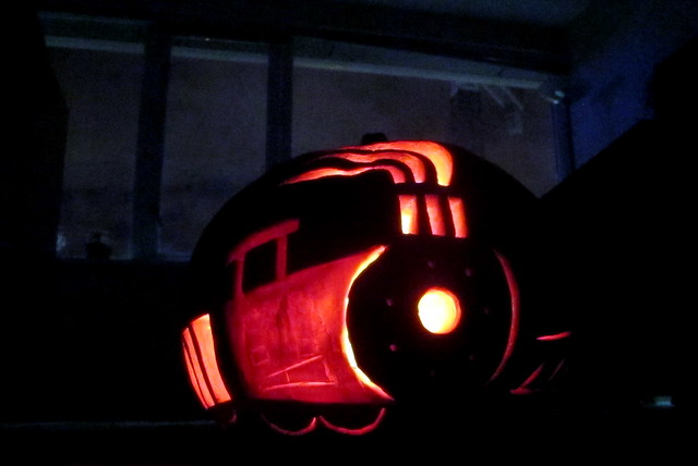 Ghost Train Pumpkin