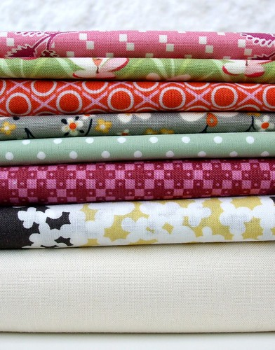 First selection of fabrics for cushion