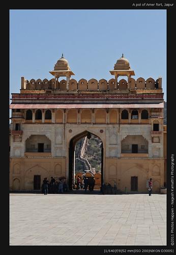 A pol of Amer fort, Jaipur