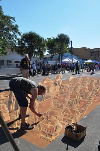 Day 5 of the Chalk Festival in Sarasota, Fla., by Leon Keer, Nov. 5, 2011