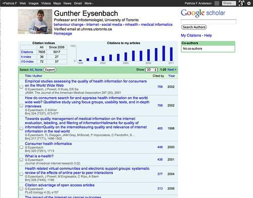 New Google Scholar Citations Emerging Technologies Librarian