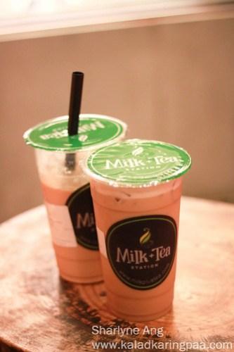 Milk Teas at Milk + Tea Station