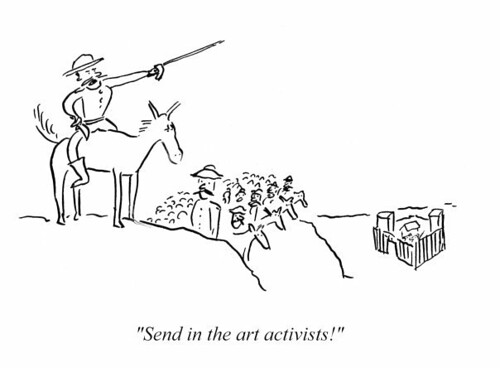Cartoon - Arts cuts activists