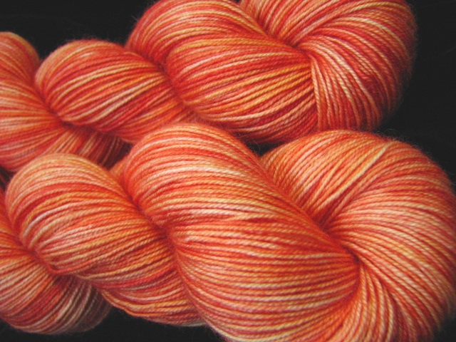Orange Cosmos - Bengal Twist Semi Solid Kettle Dyed Sock Yarn