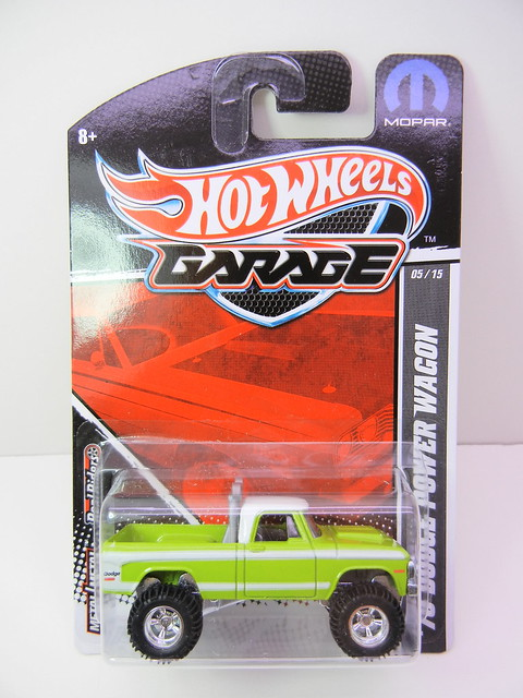 hot wheels garage '70 dodge power wagon green (1)