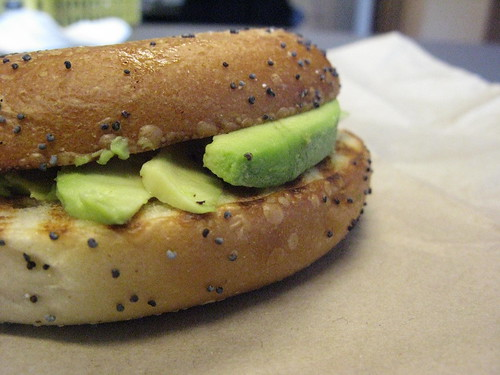 bagel with avocado